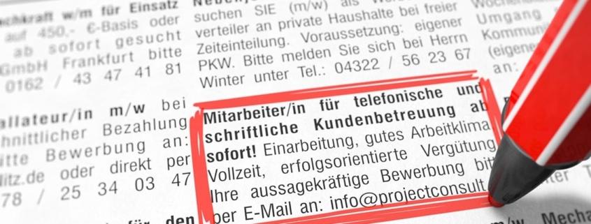 Stellenanzeigen in Zeitungen - für wen sind sie noch interessant?