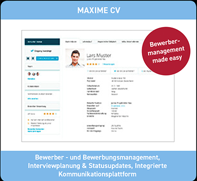 Maxime CV-Bewerbermanagement