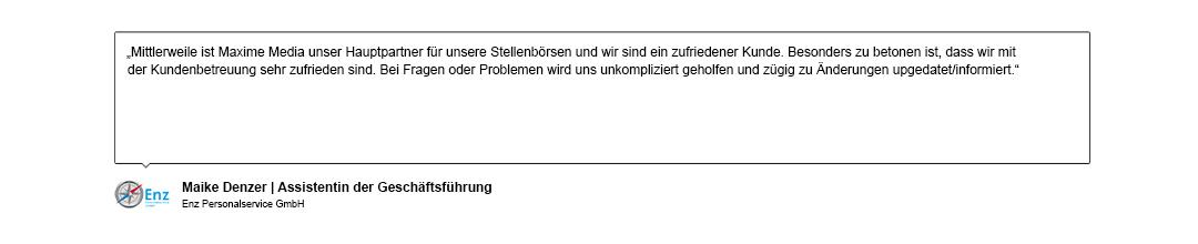 Kundenreferenz von Enz Personalservice GmbH
