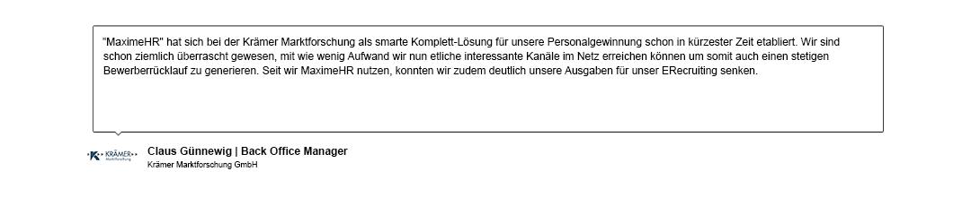 Kundenreferenz der Krämer Marktforschung GmbH