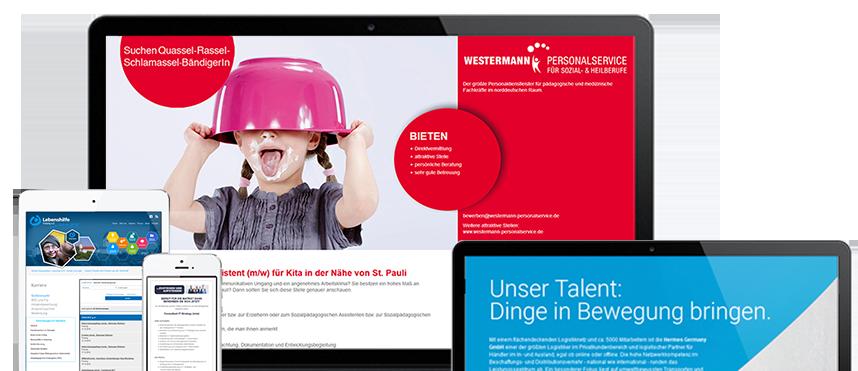 Beispiele für Maxime Corporate Jobboards