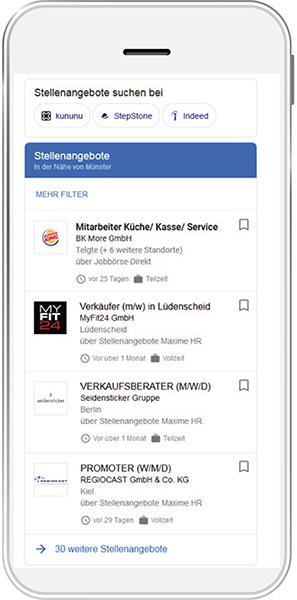 Maxime Media platzier Anzeigen auf Google for Jobs